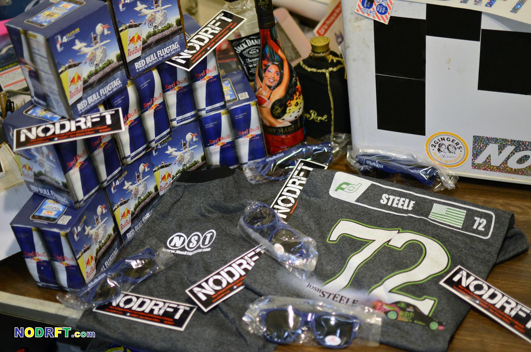 NST gift pack, NST tee, license plate frame, lanyard and N.D. slap sticker!