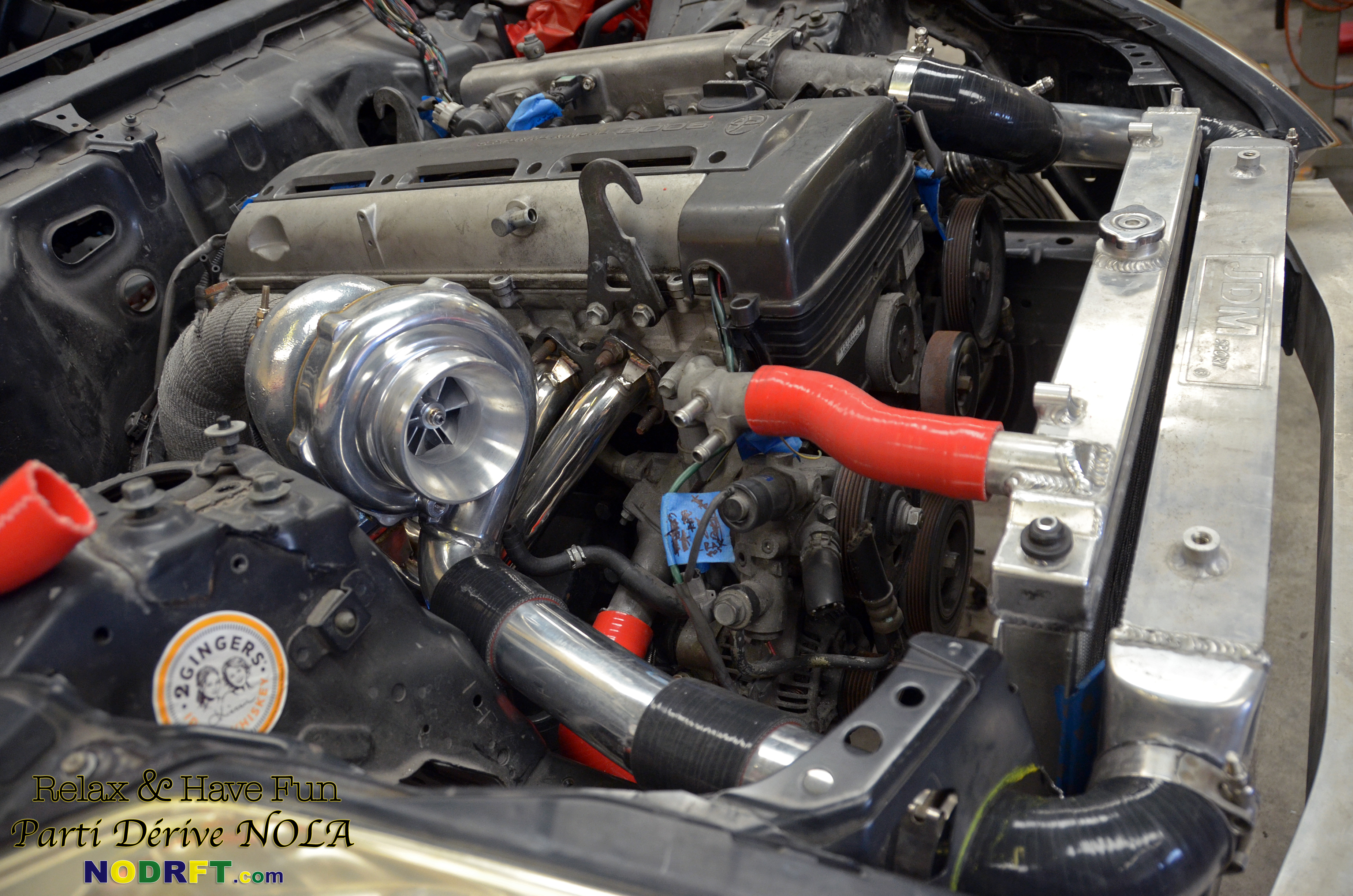 2jzZ33 – Turbo, HMIC, Charge piping, Rad mock up'