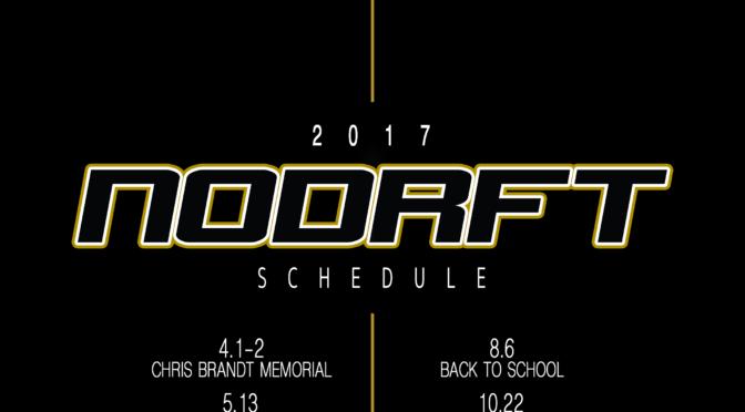 NODRFT's 2017 schedule!